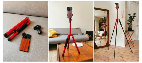 Il kit Nodalview, esempio di materiale per scattare foto immobiliare