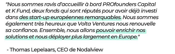Citation Thomas Lepelaars, CEO de Nodalview