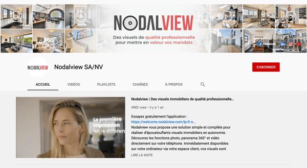 exemple de chaine YouTube Nodalview attrayante