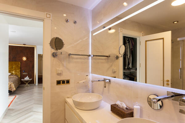 Fotografía de cuarto de baño con temporizador