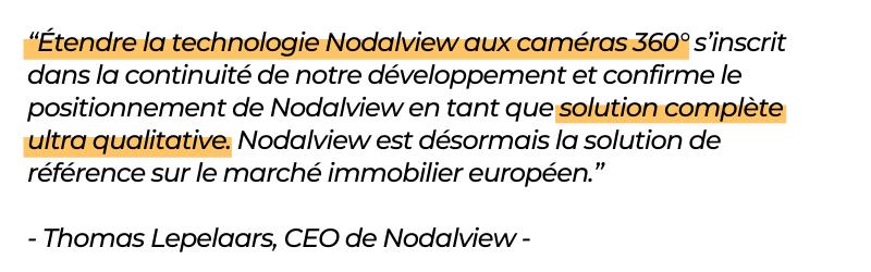 Nodalview annonce compatibilité avec caméra 360 dont Ricoh Theta