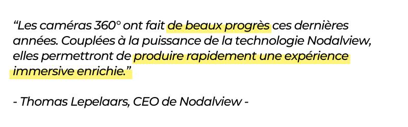 citation Nodalview sur sa compatibilité avec caméras 360 dont Ricoh Theta