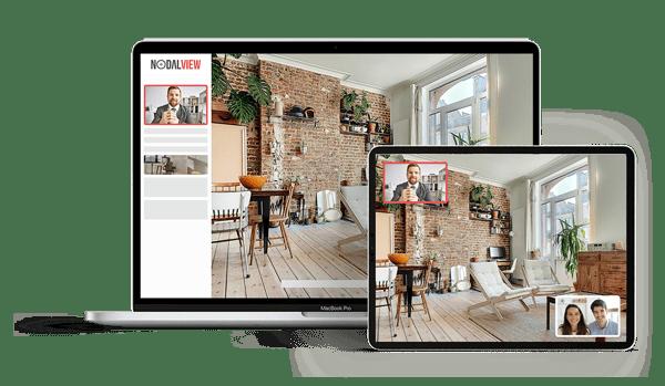 La visite immobilière 3.0 de Nodalview vous permet d'organiser des visites virtuelles en visio